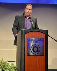 Tom Hamilton speaks at St. Petersburg College